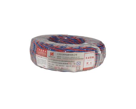 河南耐热105℃无卤低烟阻燃交联聚烯烃绝缘绞形连接用软电线